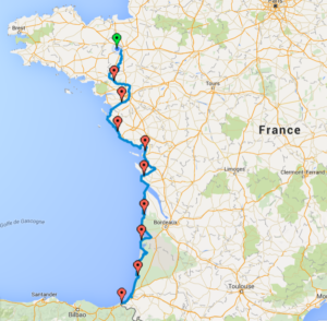 Carte côté France
