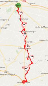 Parcours de Cintré/Laval au Lion d'Angers