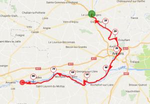 Parcours du Lion d'Angers à Ancenis